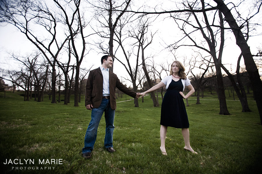 University of Kansas engagement photo
