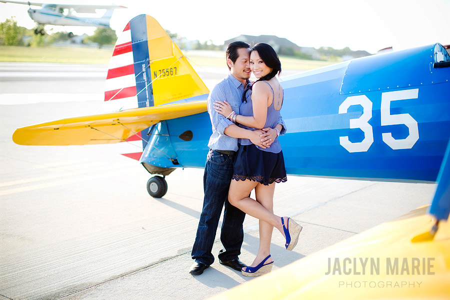 airplane engagement photo