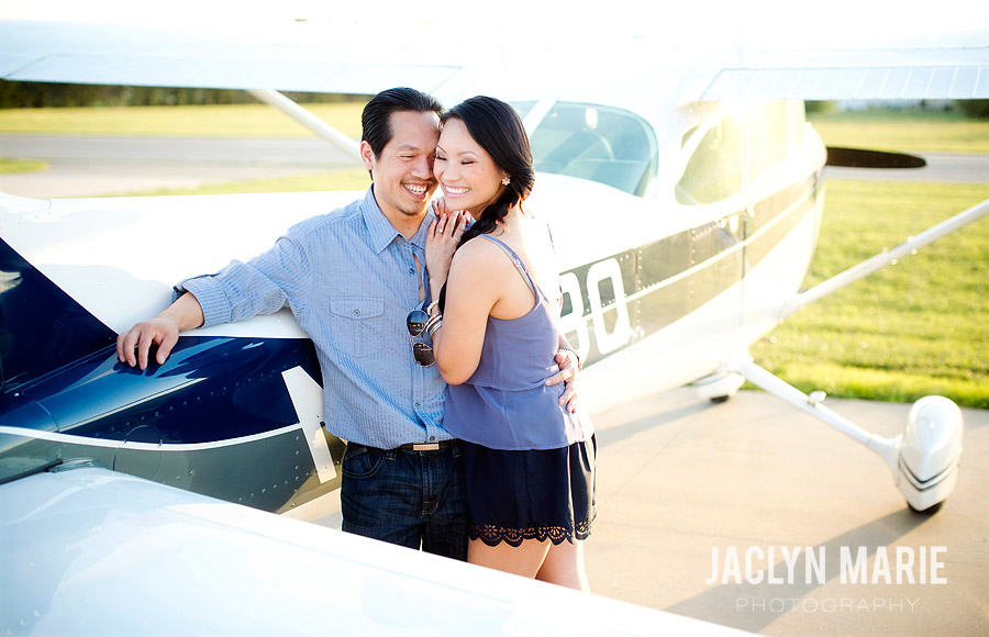 Airport engagement session photo
