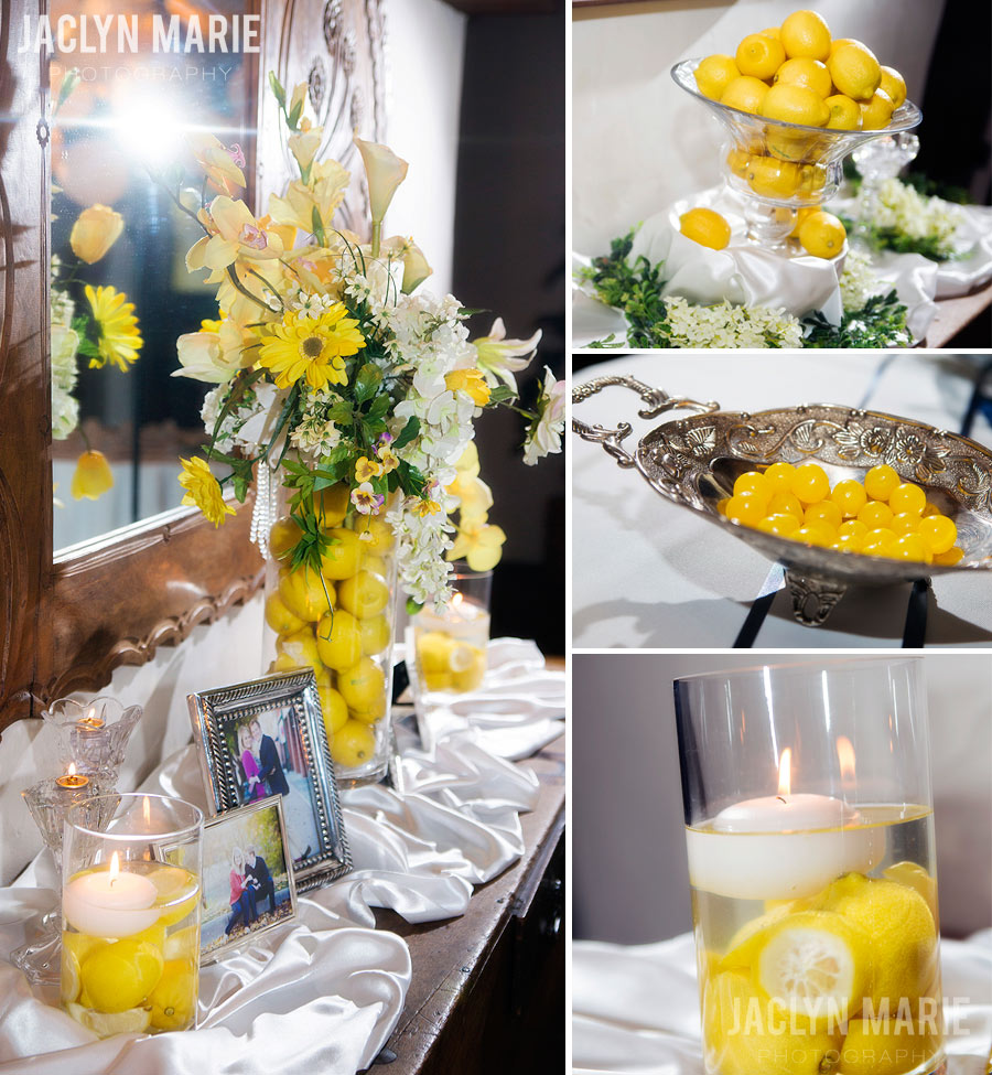 lemon wedding decor photo