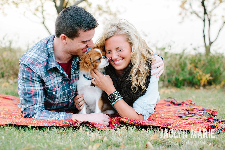 puppy engagement photo