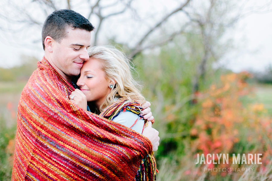 blanket engagement photo