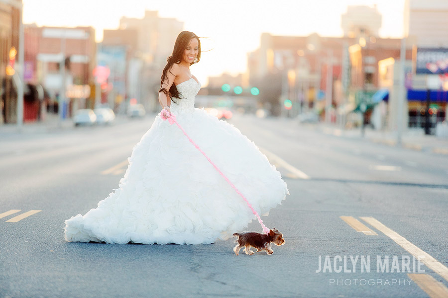downtown Wichita bride photo