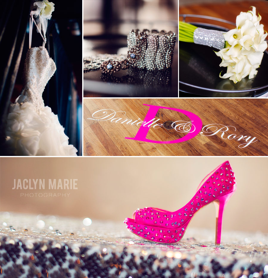 sparkly wedding details photo