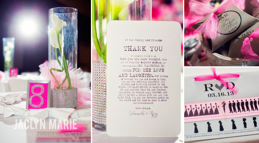 pink wedding details photo