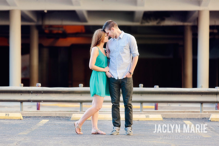downtown engagement photo