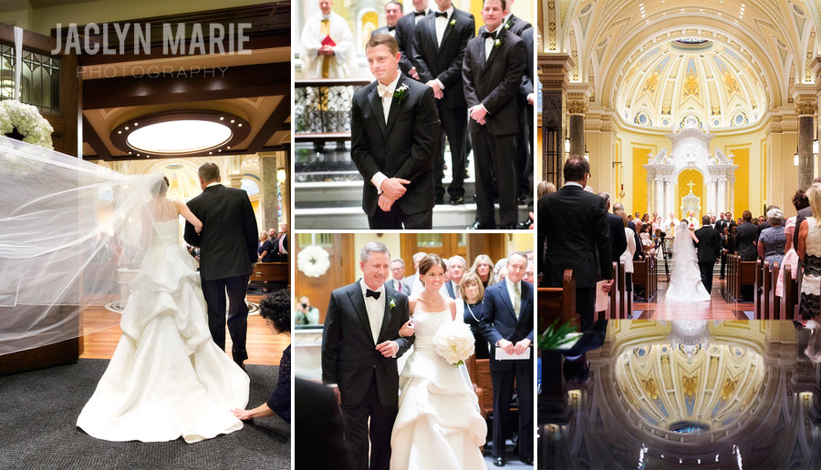 Catholic cathedral wedding photo