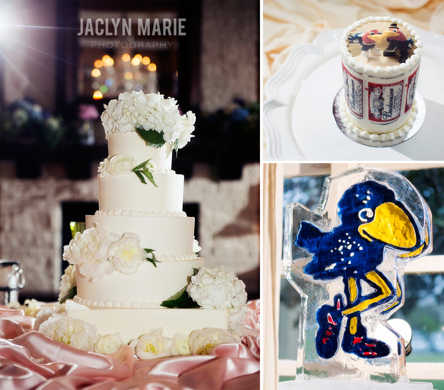 Jayhawk wedding cake photo