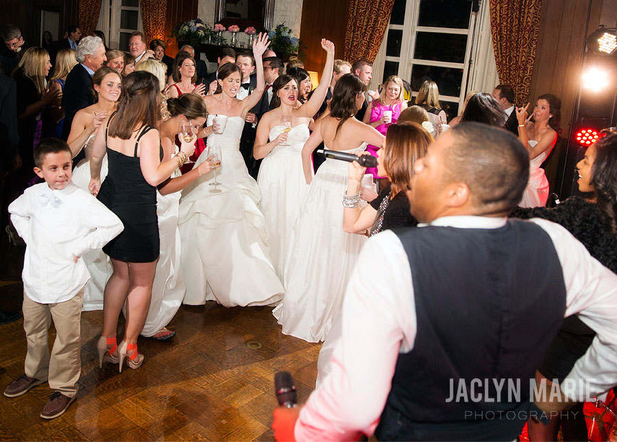 crazy wedding party photo