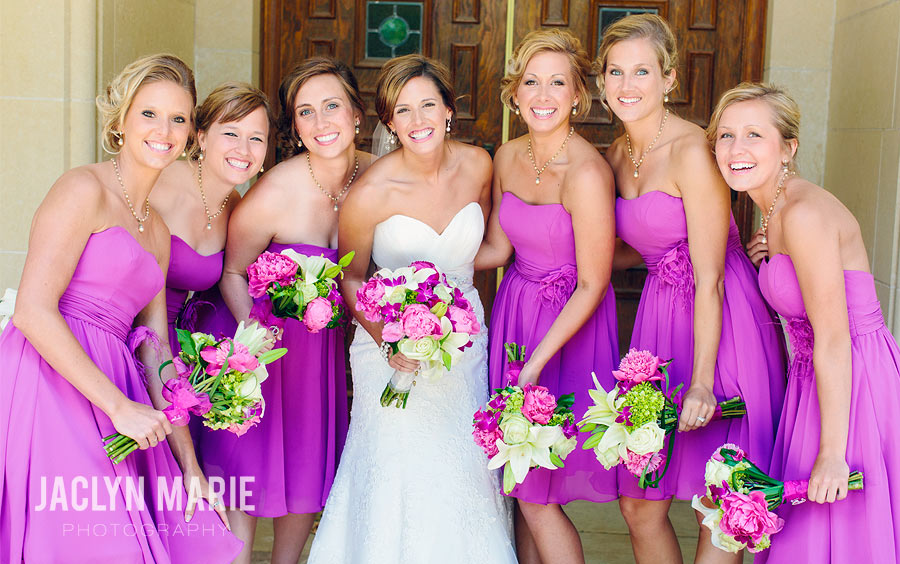 fucsia bridesmaid wedding photo
