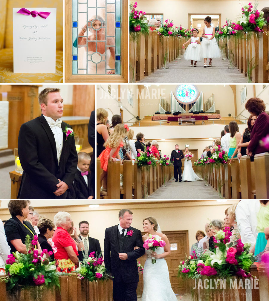 East Height Methodist Church wedding in Wichita, KS